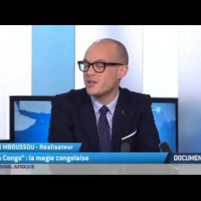 """David Mboussou, réalisateur de """"I am Congo"""" sur le plateau de TV5 Monde"""