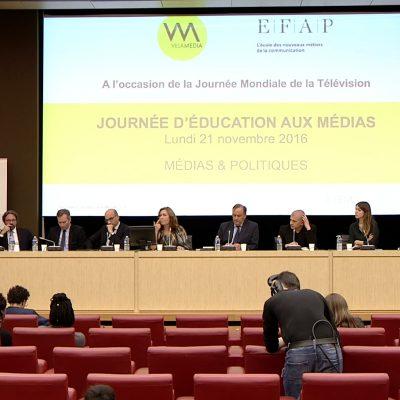 """Relation Presse et organisation de la """"Journée Education aux Médias"""" à l'Assemblée Nationale"""